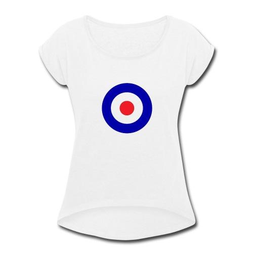 Bullseye hollow tankgirl - Women's Roll Cuff T-Shirt