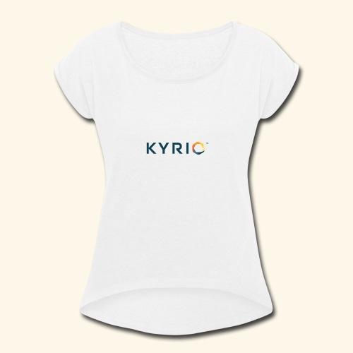 Kyrio cmyk main - Women's Roll Cuff T-Shirt
