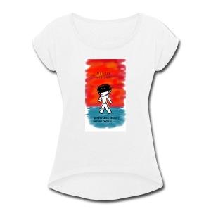 Digiorno Nintonde - Women's Roll Cuff T-Shirt