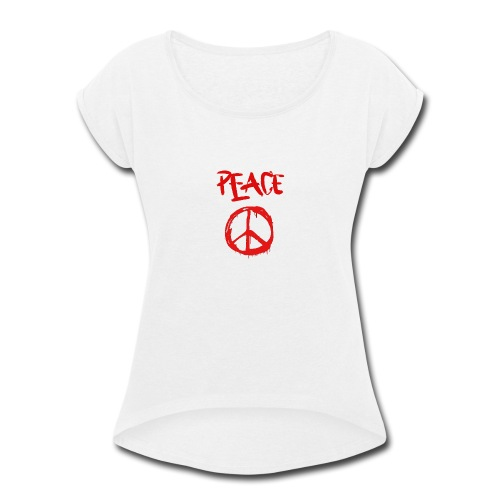 Peace1 - Women's Roll Cuff T-Shirt