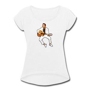 Sam Trocki Cartoon - Women's Roll Cuff T-Shirt