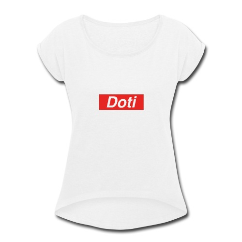 DOTI Superior Logo - Women's Roll Cuff T-Shirt