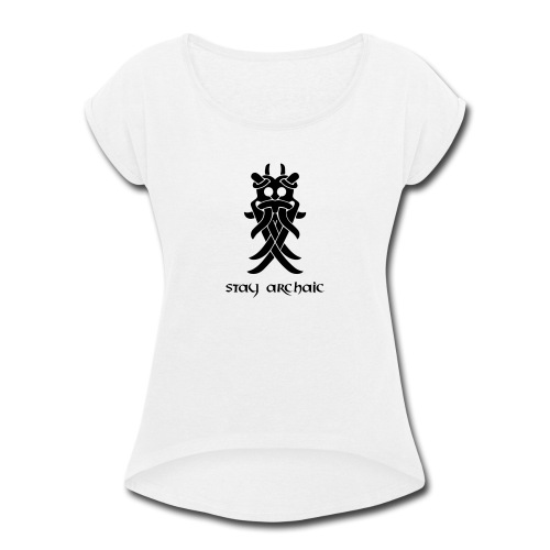 Odin's Mask - Women's Roll Cuff T-Shirt