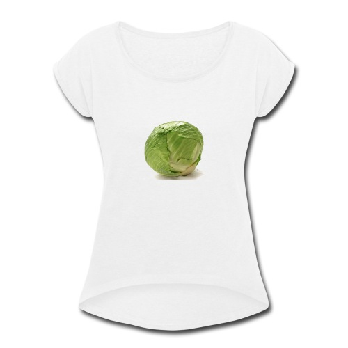 CabbageTexts Streetwear - Women's Roll Cuff T-Shirt