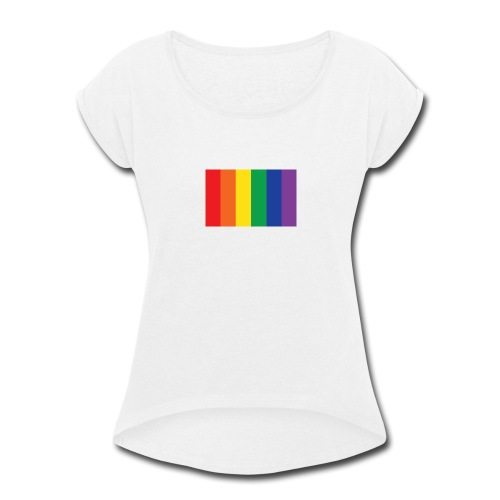 RAINBOW-625x390 - Women's Roll Cuff T-Shirt