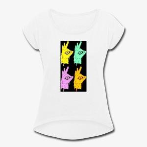 OK, WHAT - Women's Roll Cuff T-Shirt