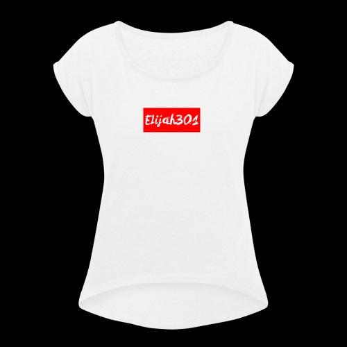 Elijah301DesignRED - Women's Roll Cuff T-Shirt