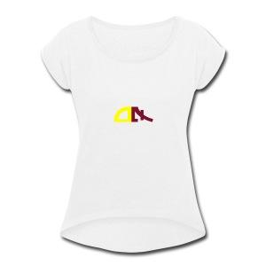Seven days Logo - Women's Roll Cuff T-Shirt