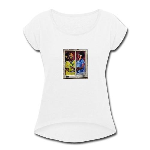 Couple new orleans - Women's Roll Cuff T-Shirt