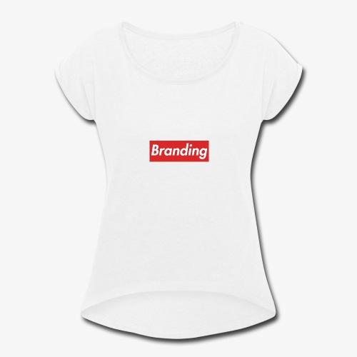 Branding T-Shirt - Women's Roll Cuff T-Shirt
