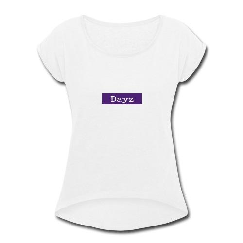 Dayz Purple Box Logo - Women's Roll Cuff T-Shirt