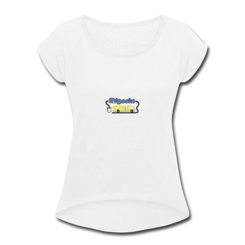 RVgeeks Logo - Women's Roll Cuff T-Shirt