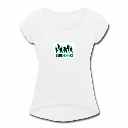 The DP MERCHENDISE - Women's Roll Cuff T-Shirt