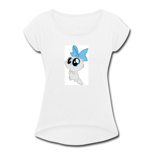 cute kitty - Women's Roll Cuff T-Shirt