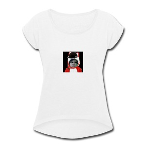 The SNIPPY Face - Women's Roll Cuff T-Shirt