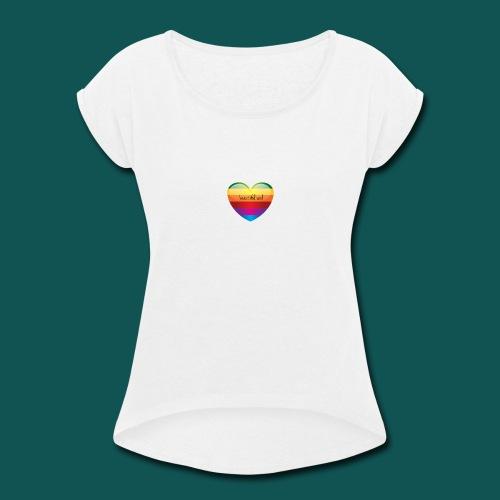 LogoMaker-1483188880915 - Women's Roll Cuff T-Shirt