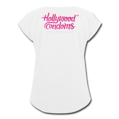 Hollywood Condoms™ - Love Performance - Women's Roll Cuff T-Shirt