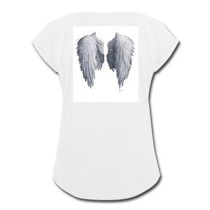 Angel Wings - Women's Roll Cuff T-Shirt