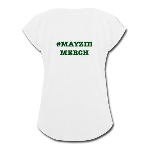 Back Logo - Women's Roll Cuff T-Shirt