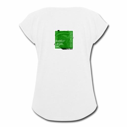 Smoking Man #1 - Women's Roll Cuff T-Shirt