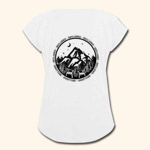 Bellingen Mountain Ranges - Women's Roll Cuff T-Shirt