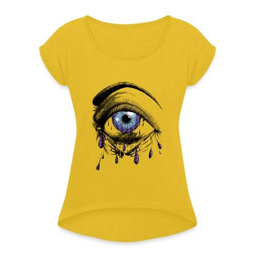 Lightning Tears - Women's Roll Cuff T-Shirt