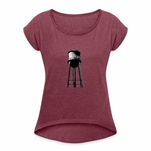 Water Tower - Women's Roll Cuff T-Shirt