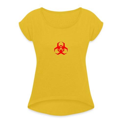 HazardMartyMerch - Women's Roll Cuff T-Shirt