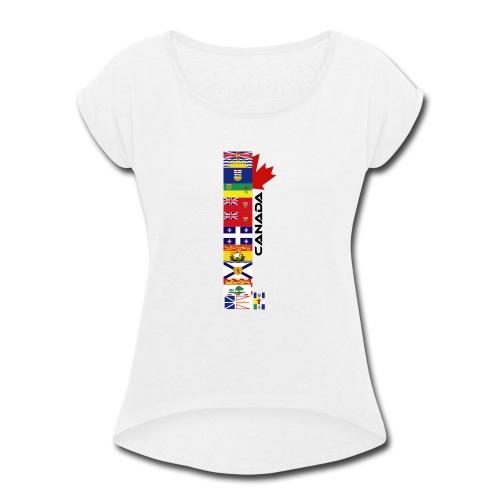 Canadian Provinces - Women's Roll Cuff T-Shirt