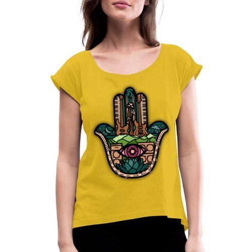 Hatti's Hamsa V2 - Women's Roll Cuff T-Shirt