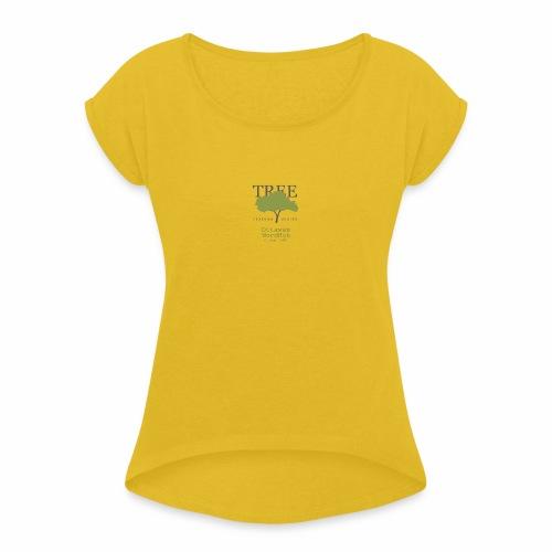 Tree Reading Swag - Women's Roll Cuff T-Shirt