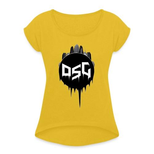 DSG Casual Women Hoodie - Women's Roll Cuff T-Shirt