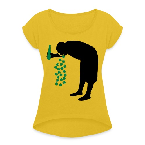 drunkpatron - Women's Roll Cuff T-Shirt