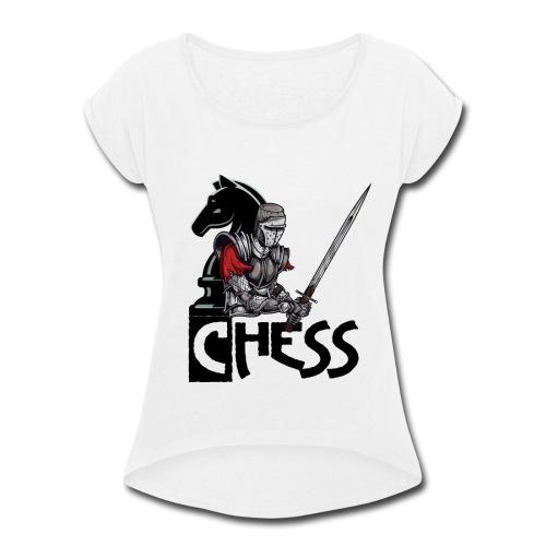 The Chess War - Women's Roll Cuff T-Shirt