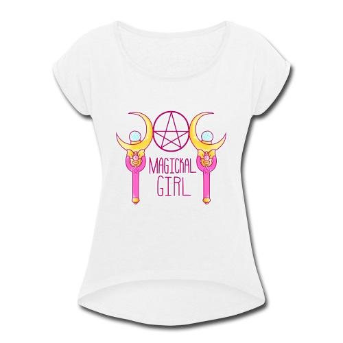 Magickal Girl - Women's Roll Cuff T-Shirt