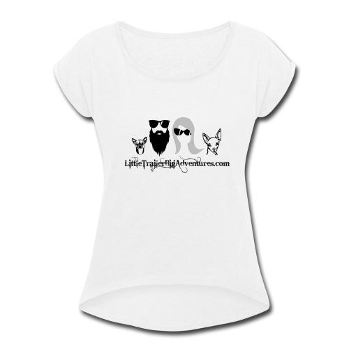 LTBA Headshot - Women's Roll Cuff T-Shirt