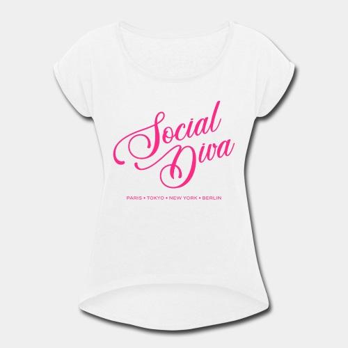 social fashion diva style - Women's Roll Cuff T-Shirt