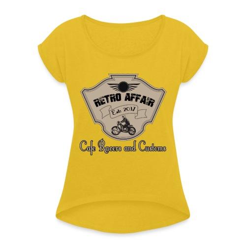 Retro Badge - Women's Roll Cuff T-Shirt