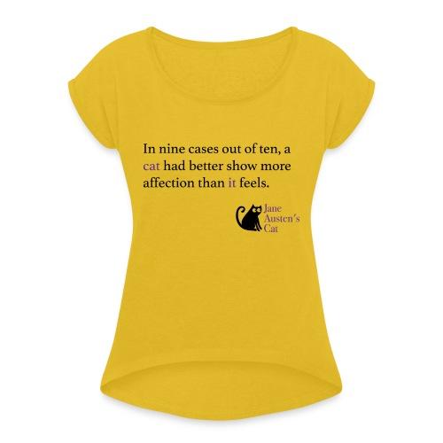 9outof10cats - Women's Roll Cuff T-Shirt