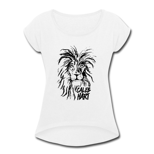 Caleb Hart - Lion - Women's Roll Cuff T-Shirt