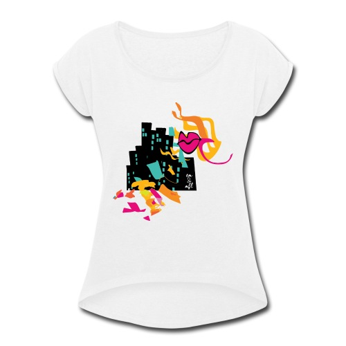 BAYA-CITY - Women's Roll Cuff T-Shirt