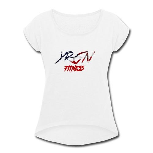 YRGN FITNESS - Women's Roll Cuff T-Shirt
