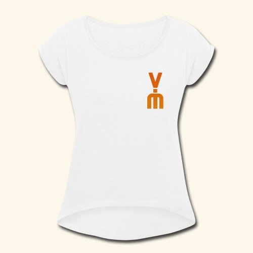 The White Vimster - Women's Roll Cuff T-Shirt