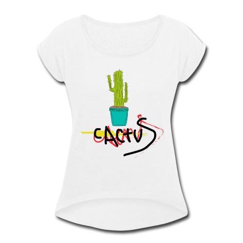 _cactus - Women's Roll Cuff T-Shirt