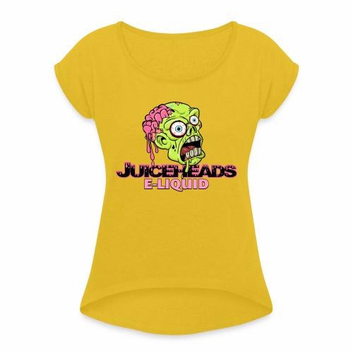 Juiceheads e-Liquid Logo - Women's Roll Cuff T-Shirt
