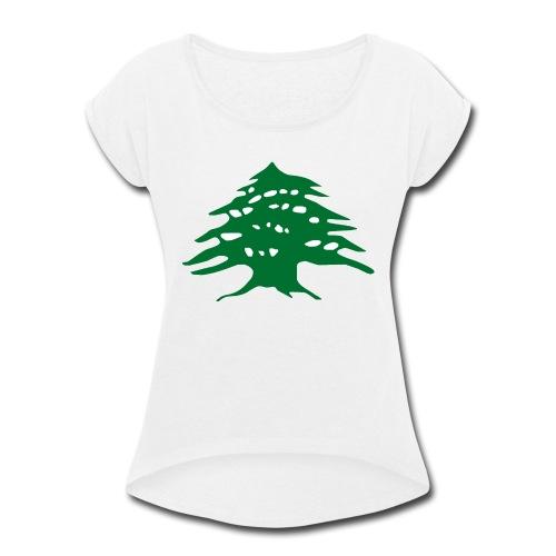 Lebanese Pride Shirt - Women's Roll Cuff T-Shirt
