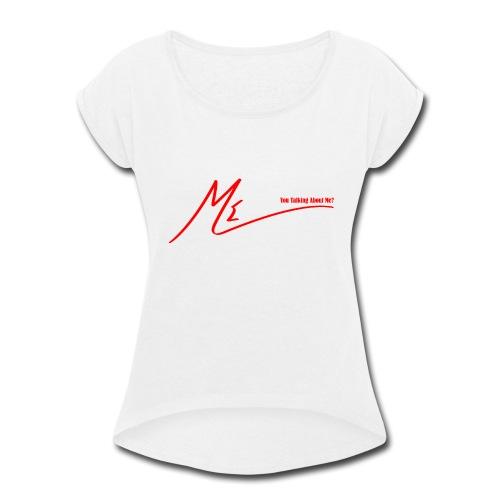 output onlinepngtools 3 - Women's Roll Cuff T-Shirt
