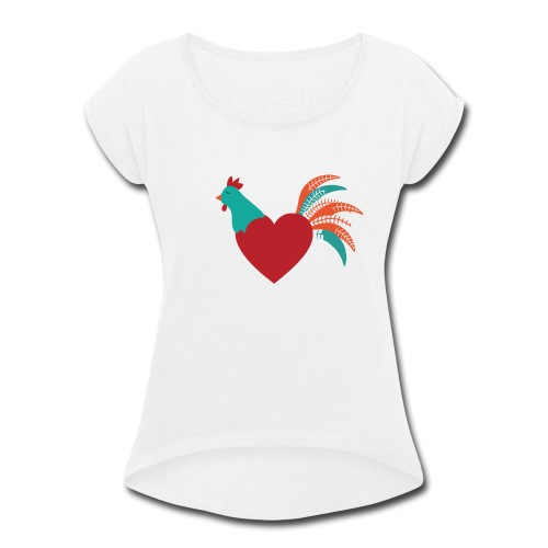 Chicken Heart - Women's Roll Cuff T-Shirt