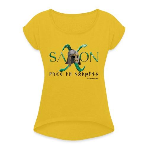 Saxon Pride - Women's Roll Cuff T-Shirt