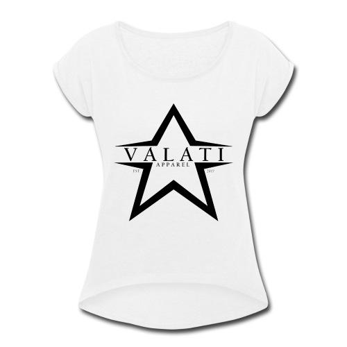 V-STAR Black - Women's Roll Cuff T-Shirt